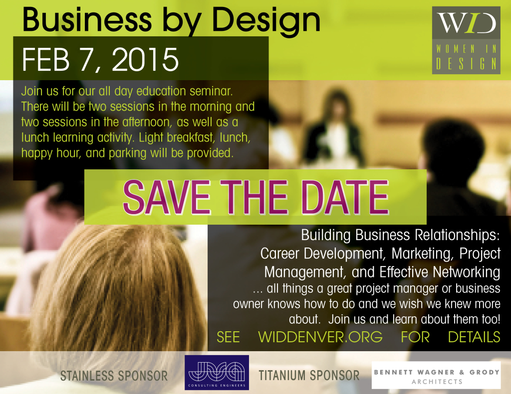Save the date Business by Design