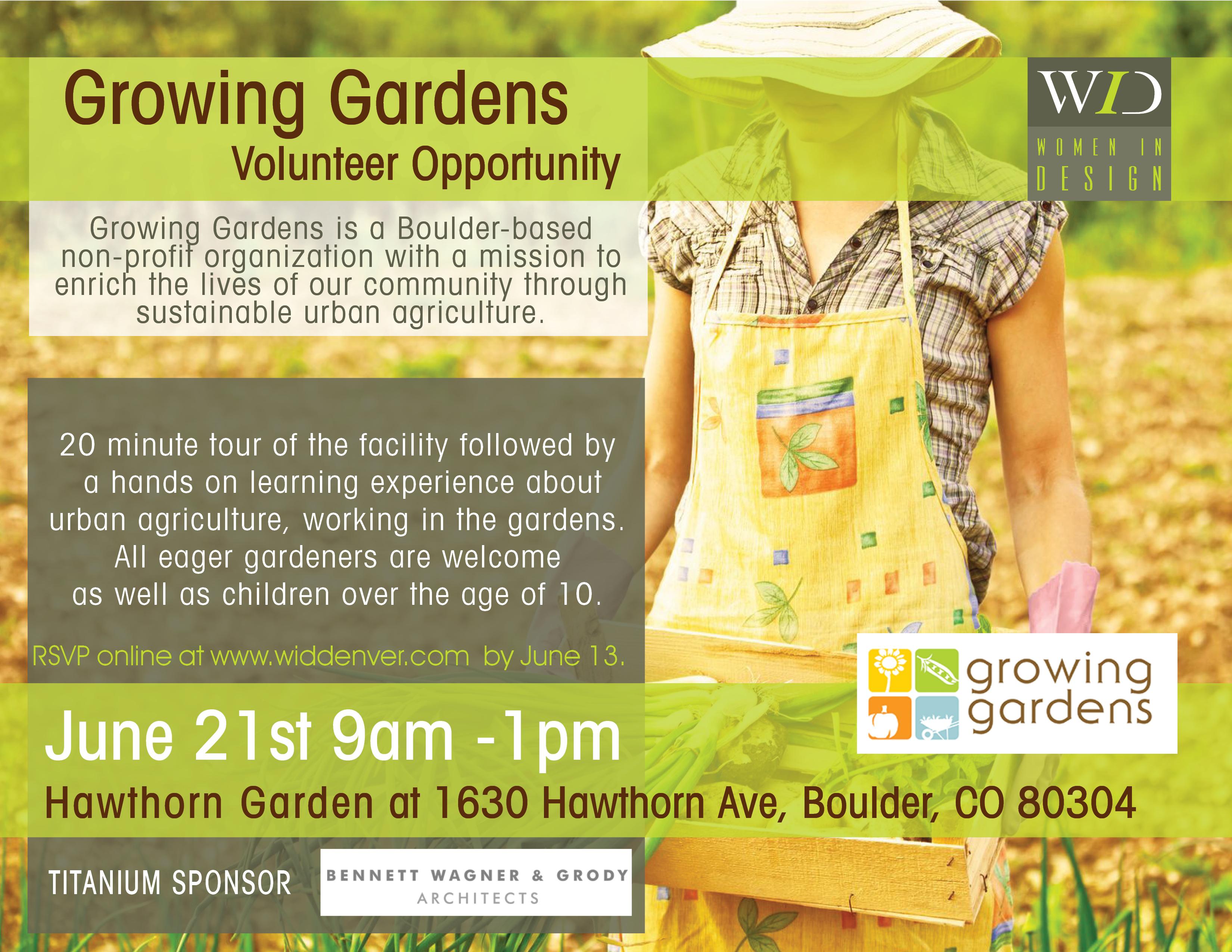 women in design growing gardens volunteer event growing gardens flyer final new font